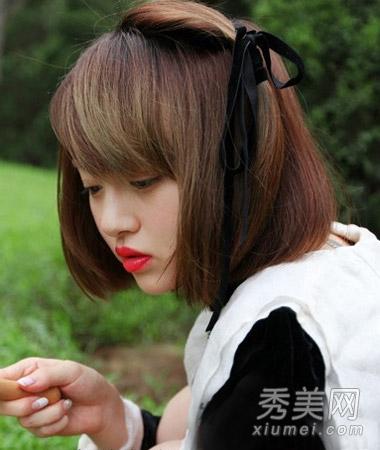 最新日系短发发型图片 2014矮个女生必备图片