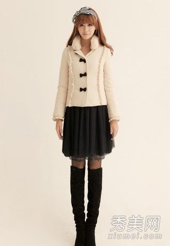 时尚冬装搭配 爱上贴心小棉袄图片