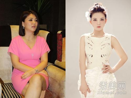 李湘瘦身照片_李湘减肥成功 明星胖瘦对比照好惊人