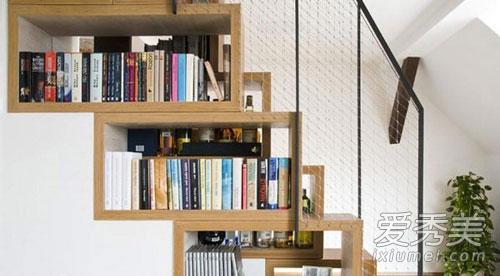 八款楼梯空间书籍巧收纳图片