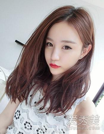 发型6: 清新灵动感十足的空气感刘海造型设计可是最显小女生的可爱图片