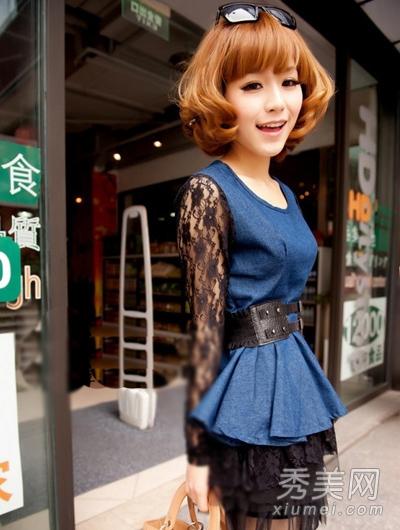 com 齐刘海可爱减龄又萝莉,灵动的短发梨花头,优雅甜美而又有小女人图片