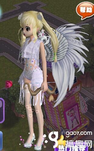 今天给《恋舞ol》的大家带来一套呆萌小天使的服装组合,萌萌的爱神图片