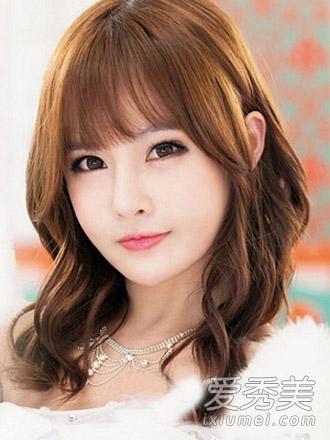 圆脸适合的发型图片 选对刘海是关键图片