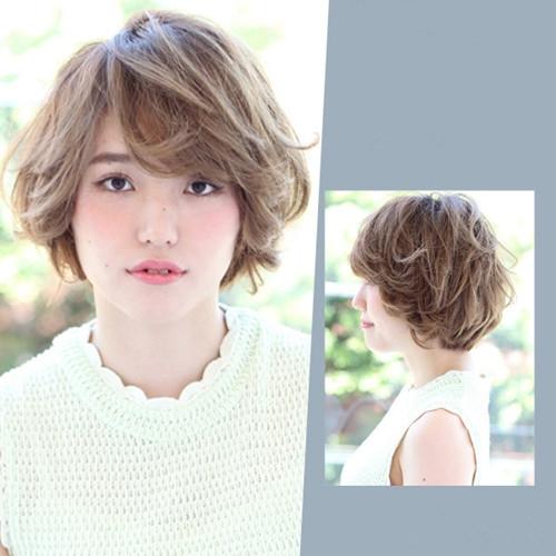 韩版女生短发烫发发型 个性时尚范绝对百分百图片