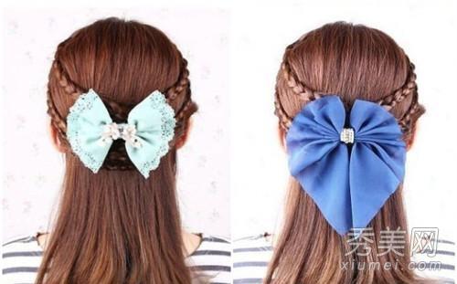 这款编发就能完美的帮你打造优雅的淑女风格,一条条的小辫子将柔美的图片