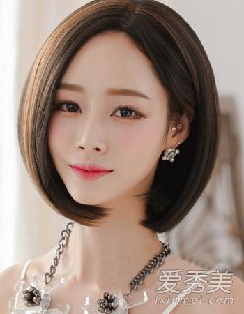 中短发弄什么发型好看 韩式波波头成首选