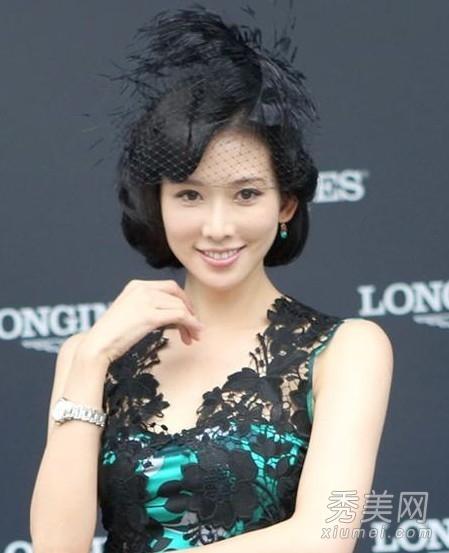37岁林志玲示范 鹅蛋脸女生的减龄发型图片