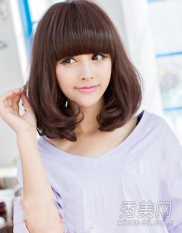 2014韩国女生流行发型 长发清新美腻图片