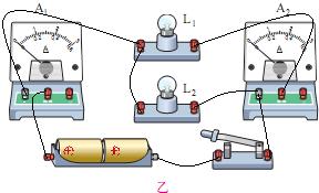 如图甲电路图所示,是小王同学在做用电流表测量简单并联电路的电流的图片