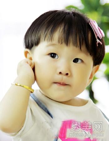 夏季小女孩适合发型 齐刘海可爱呆萌图片
