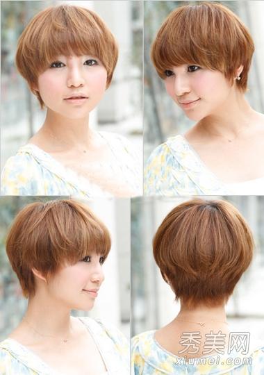 盘点最适合圆脸女生的5款短发发型图片