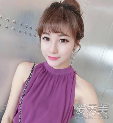 女生齐刘海发型分享 直发卷发都很美图片
