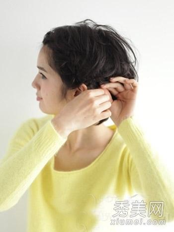 短发怎么扎起来 diy刘海编发简单有型图片