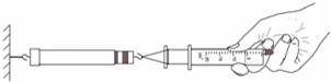 """如图是小华做""""估测大气压的值""""的实验示意图图片"""