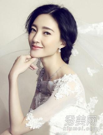 王丽坤新娘发型一