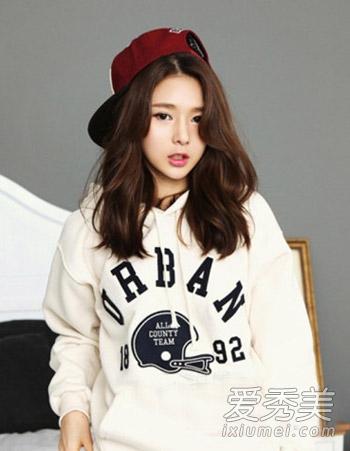 韩式中长卷发图片 中长发最佳烫发模板图片