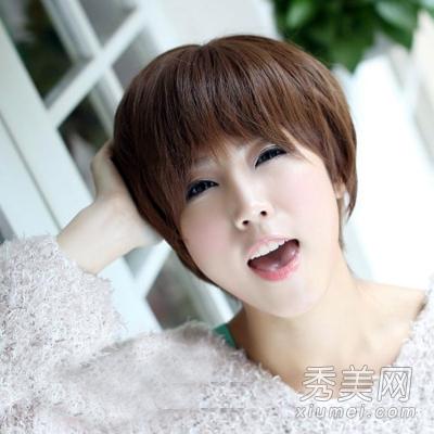 发型适合圆脸短发头蘑菇修颜显瘦x21怎么去掉齐刘海图片