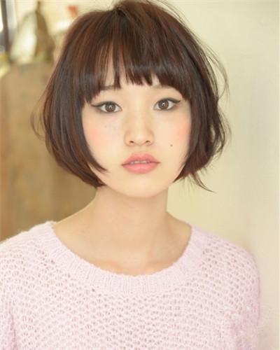 圆脸适合的短发发型图片 五款短发带出好看小脸型图片