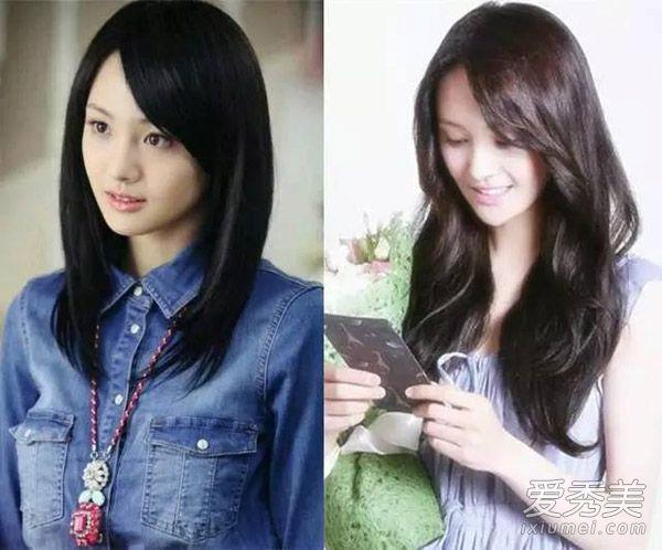 斜刘海的直发会显得更加清纯一点,现在大波浪卷的37分斜刘海图片