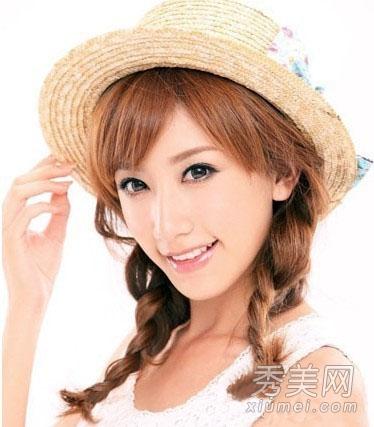 清新淑女韩式编发发型图片 打造最美少女形象图片