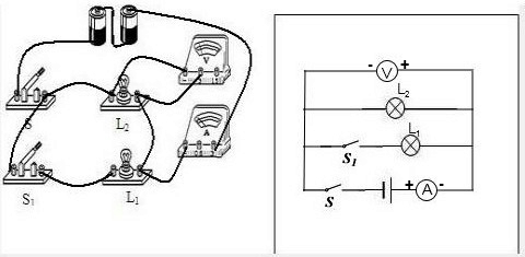 物理 实物的电路连接.图片