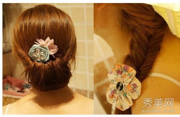 2款韩式盘发图解 怦然心动的淑女发型图片