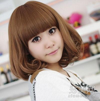 2012最新短发荷叶头 胖脸mm超修脸发型图片