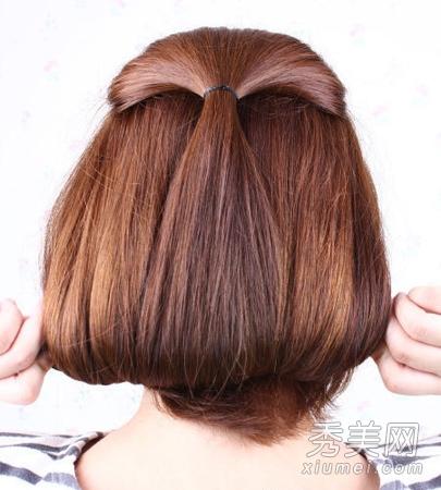 长短随意变 夏季必备的长发变短发盘发教程图片