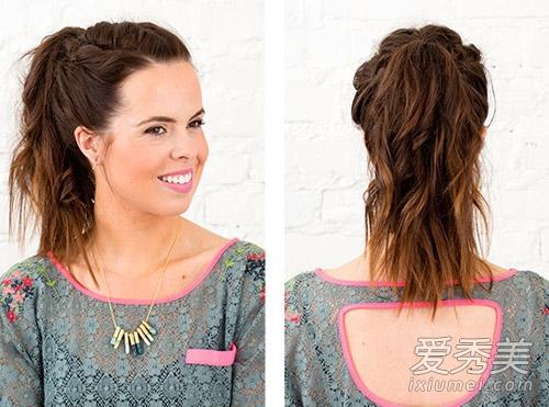 风靡欧美!3款中长发编织发型图解图片