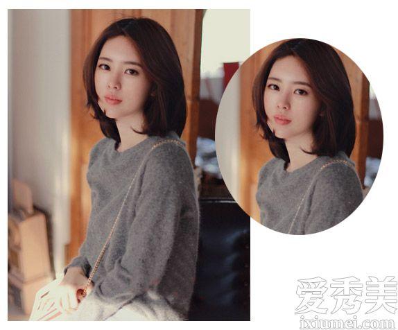 韩国网红尹善英示范 本季最流行中短发发型图片