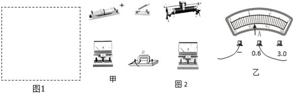 (1)在图1电路框内画出电路图,并用导线线翻译虚线,将图2甲语文连接人教文言文代替初中版笔画图片