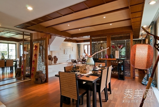130平东南亚风复式楼设计 浓烈微奢_美容护肤知识大全图片