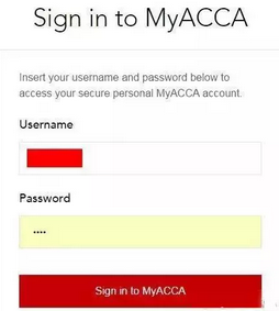 WWW_ACCAGLOBAL_COM_accaglobal.com )点击 my acca,进入登陆页面