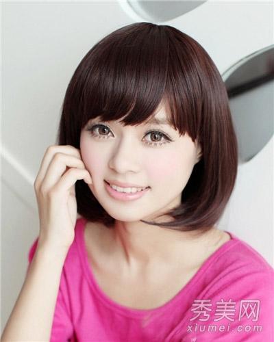 2014女生发型推荐 短发波波头甜美最流行图片