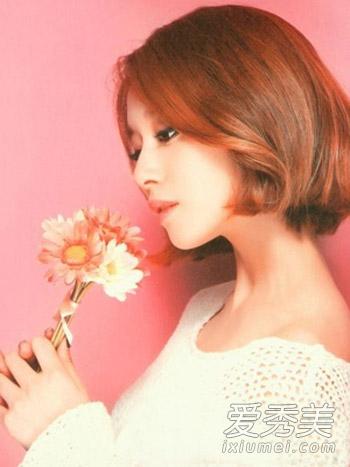 com 韩版短发烫发9: 非常适合矮个子mm来打造的一款韩式短发烫发发型图片