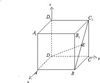 如图,在正方体abcd-a1b1c1d1中,e为bc1的中点,则de与面bcc1b1所成角的图片