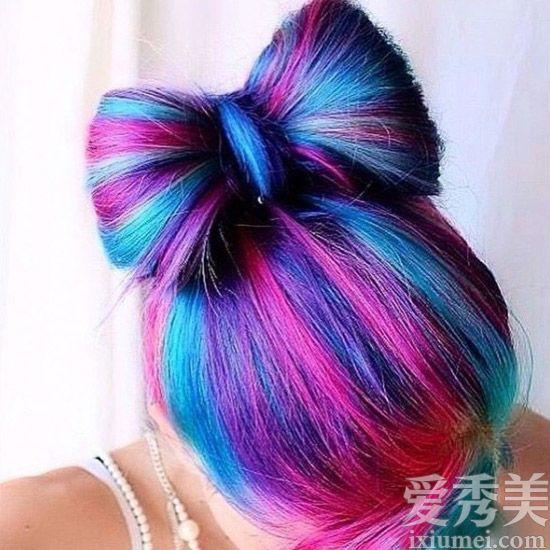达人钟情的紫色头发 这么染最漂亮图片