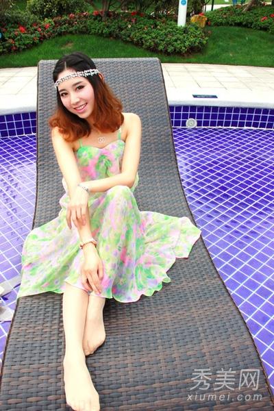 波西米亚风格长裙,吊带设计图片