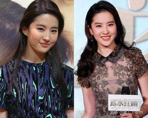杨幂baby刘亦菲 女星直发卷发都很美图片