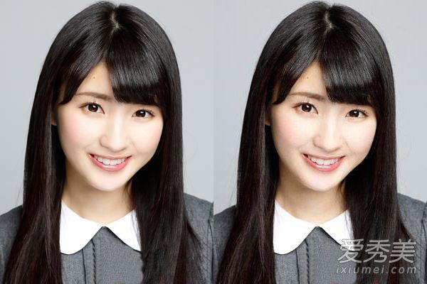 圆脸适合的直发发型 校花范清纯减龄图片