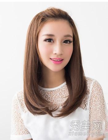 女生中长发发型参考 直发比卷发更清新图片