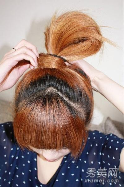 夏季韩式盘发 人气高的花苞头扎法图解图片