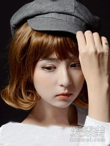 脸大的女生适合什么发型 韩式短发好显瘦图片
