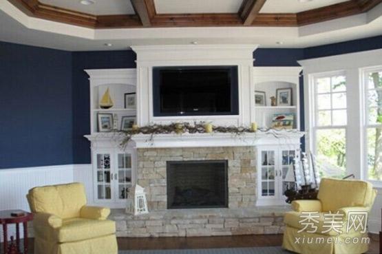 美式风格电视背景墙效果图大全图片