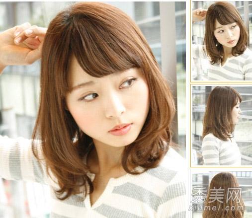 新款梨花头发型图片 清新齐刘海拯救胖圆脸图片
