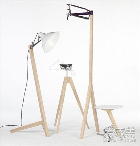 创意家居:自行车零件改造成新颖家具图片