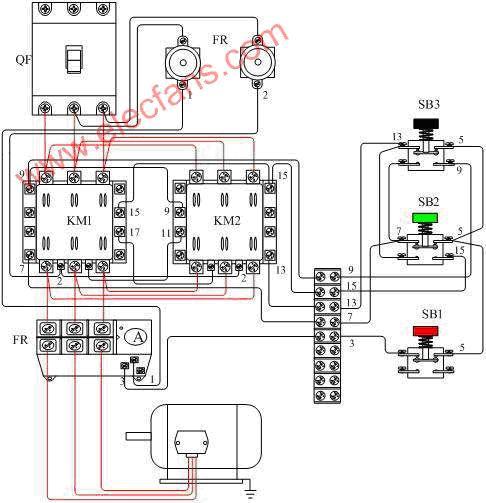 交流接触器互锁接线图及原理图图片