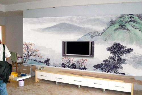 雕花玻璃电视背景墙图片 背景墙装修效果图两边的雕花很