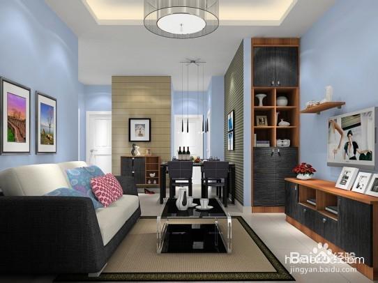 这款原木色简欧风格客厅效果图,采用皮艺的转角沙发.客厅